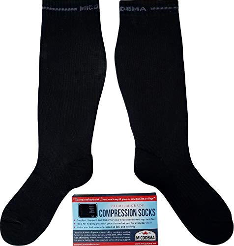 Compression Socks XX Wide Calf - Arch and Ankle Support Band | Gradient...