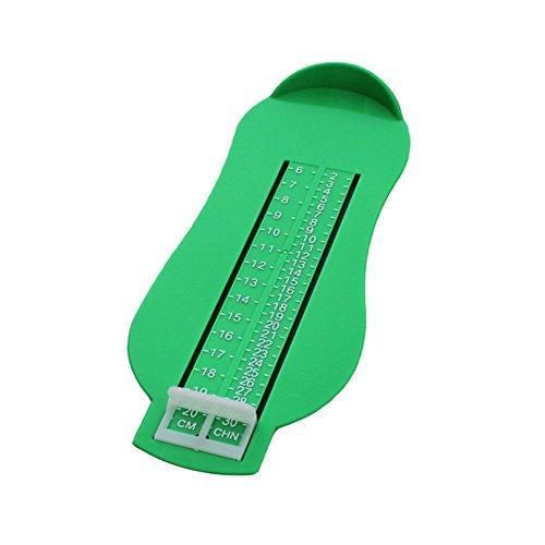 [CHENRUI] AMAA 幼児 ベビー 足の測定器 フット測定器 靴 長さ メジャー 長さを測定 ツール (グリーン)