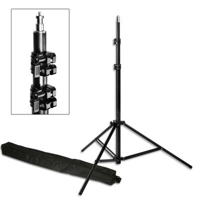 "PBL Light Stand PRO Heavy Duty 7'6"" All Metal Locking Collars with Carry Bag Steve Kaeser Photogrpahic Lighting"