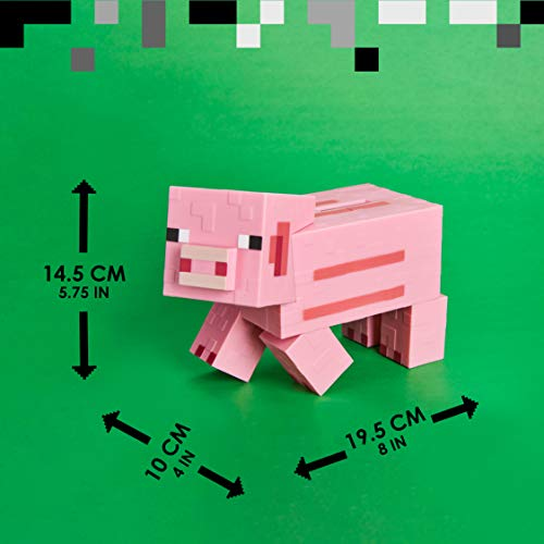 Minecraft Pig Money Bank BDP | Pink Pixelated 3D Savings Piggy-Bank | Unique Gift Idea Perfect for Gamers
