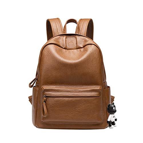 BUKESIYI Women's Backpack Handbags Rucksack Shoulder Bags PU Leather Mini Kawaii Anti-theft CCUK78244 Brown
