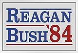 Gerahmtes Poster Ronald Reagan George Bush 1984 Kampagne,