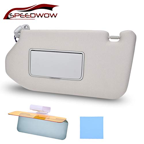 SPEEDWOW Car Sun Visor with Mirror and Vanity Light Lamp Driver Left Side...