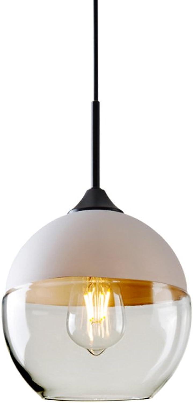 Nordic Wohnzimmer Sphrische Kronleuchter, postmodernes Schlafzimmer Restaurant Kunst Glas Geometrische anti-korrosiven Metall Büro Korridor Kronleuchter (schwarz und wei) (Farbe   Wei-C)