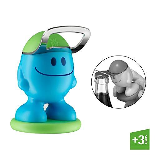 WMF Mc Bottle Flaschenöffner 9 cm, öffnet problemlos alle Kronkorken, Kapselheber, Kunststoff, blau