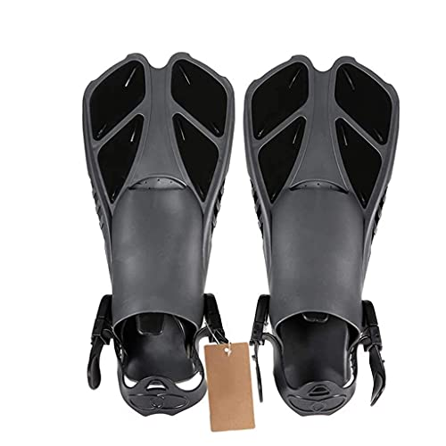 Sgxiyue Swimming Fins Adult Snorkeling Foot Flipper Floating Training Diving Fin Flippers Swimming Equipment for Water Sports (Color : Black, Size : Small-S/Medium-M)