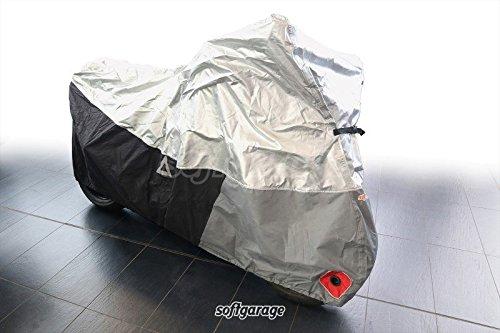 SOFTGARAGE Motorrad lichtgrau Indoor Outdoor atmungsaktiv wasserabweisend Faltgarage