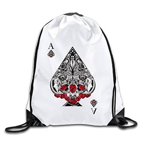 Dutch Ace of Spades - Mochila con cordón y Bolsa de Viaje
