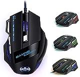 Ratón Gaming, iAmotus Ratón Gaming Óptico 7200 dpi Ajustable Gaming Mouse con Cable y 7...