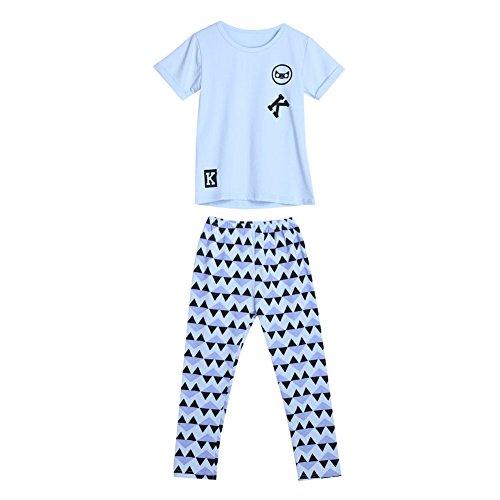 Diamondo Infantil Meninas Letra Impressão Camisetas Calças Leggings Roupas Roupa (Idade (Ano): 2-3Y)