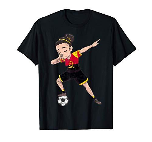 Angola Girl Fahne Fußballerin Damenfußball T-Shirt
