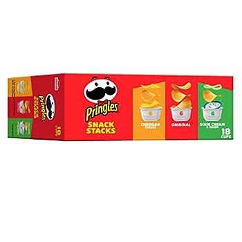 Pringles Potato Crisps Chips Variety Pack Lunch Snacks Office and Kids Snacks Snack Stacks 12.9oz Box  18 Cups