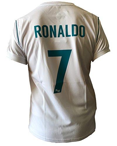Maglia Real Madrid Cristiano Ronaldo 7 Replica Autorizzata Ufficiale Bambino Adulto 2017-2018, 2 Anni