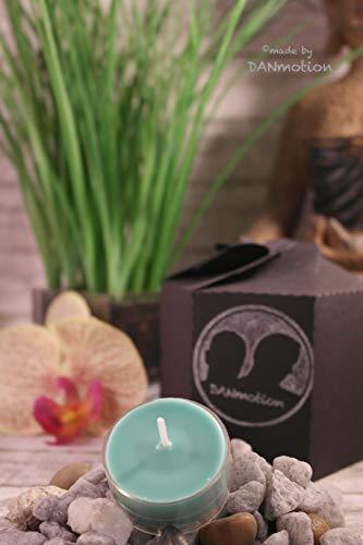 DANtealight Duftteelicht 9er Set African Tea, Rapswachs, Brenndauer min. 36 Stunden