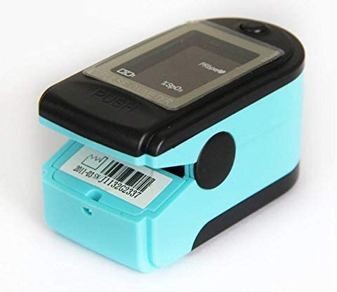 CMS 50-dl–Oxímetro de pulso de dedo con correa, color negro