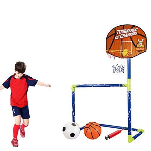 likecom 120cm 2en 1portería de fútbol + canasta Juego porterías Bomba cesta Regalo Infantil Jardín Juegos, color l, tamaño 120x72x36cm
