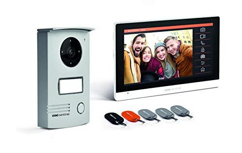SCS SENTINEL 3701085203467 casa videoteléfono Puerta-Pantalla tactil Portero de vídeo por Cable con Insignias Vsiodoor R 7+ RFID-PVF0042, 17,8 cm
