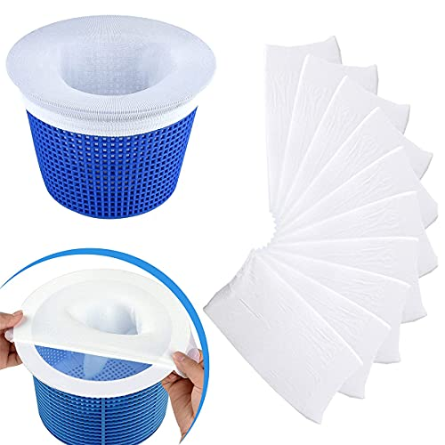 TFK Calcetines de piscina, Perfect Savers para filtros de spa, baloncestos, skimmer, accesorios de piscina para escorias, hojas, swilling, elimina escorias, polen, insectos (10 unidades)