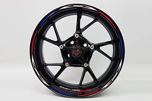Jante randauf Colle 710015 Rim Stripes – Moto Racing red blue – Kit complet – Pour 16 \