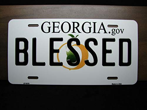 Georgia Tech Novelty Metal License Plate with Sticky Notes