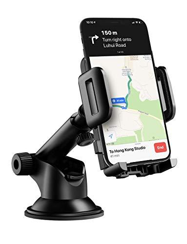 Mpow Soporte Móvil Coche para Salpicadero/Parabrisas, para iPhone Xs/X/8/7/6, Samsung Note9/8, Huawei, Xiaomi, y ect