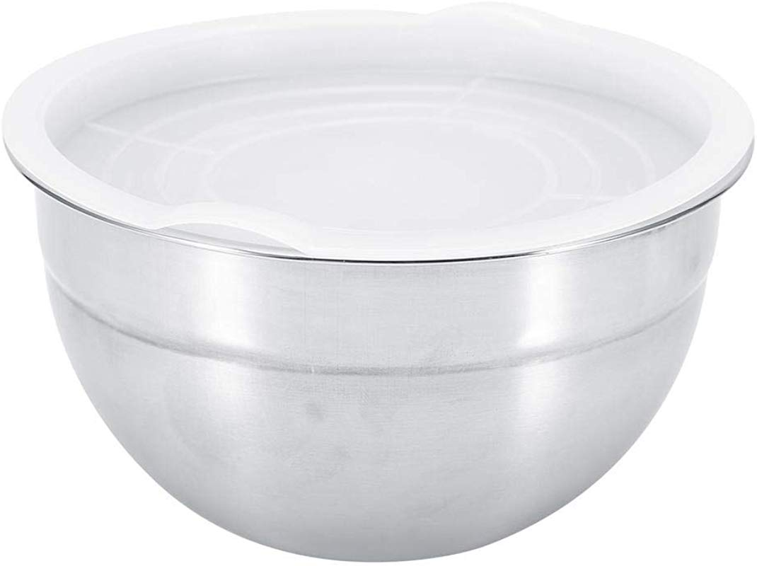 Mixing Bowl 5 Sizes Stainless Steel Thicker Mixing Bakeware Bowl Baking Salad Bowls Kitchen Cooking Tools With Lid 18cm
