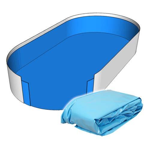 Poolfolie Innenhülle Ovalpool 490 x 300 x 120 cm - 0,8 mm blau Ovalbecken