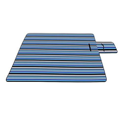 Lvguang Plegable Impermeable Manta Picnic para Playa, Acampar, Viajar sobre la Hierba (Azul#2, 150 * 200 * 0.25cm)