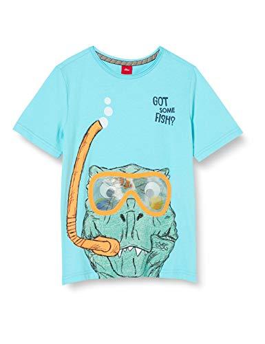 s.Oliver Junior Jungen 404.10.005.12.130.2038789 T-Shirt, 6224 Aqua, 116/122/REG
