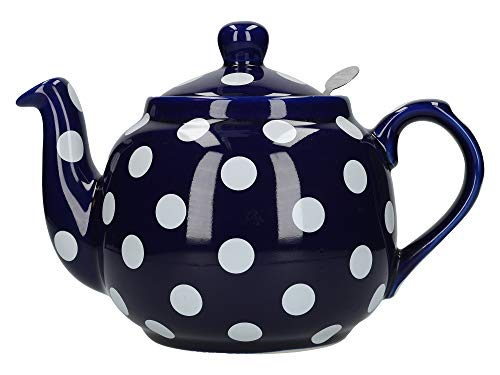 London Pottery Farmhouse - Teiera a pois con infusore, in ceramica, 4 tazze (1,2 litri)