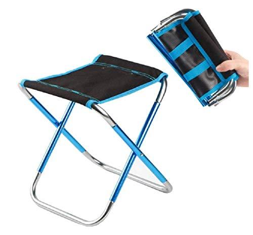 WZ YDTH Mini Tabouret Pliant Portable, Camping Tabouret léger Pliant Camp Chaise Chaise Pliante Barbecue Chaise de pêche en Aluminium Tabouret Chaise Pliante Portable