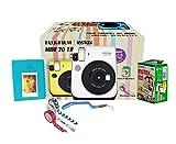 Instax mini 70 Camera : 1unit -Twin Film Pack (10x2) : 1 unit - Marker :1 Unit - Instruction Manual: 1 unit - Scrap Book : 1 unit - Warranty Card : 1 unit - Batteries Cr2 – 2 Units - Neck Strap : 1 unit - Masking Tape- 1unit Selfie mode for easy, exc...