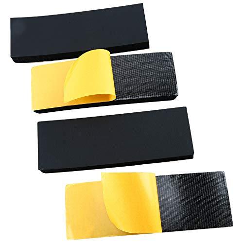 Preisvergleich Produktbild FreeTec 4 Stück Auto Türkantenschutz Türschutz Garagenwand Kratzschutz Kantenschutz für Autotür,  30cm x 9.5cm x 3cm Gummischneiden Selbstklebend