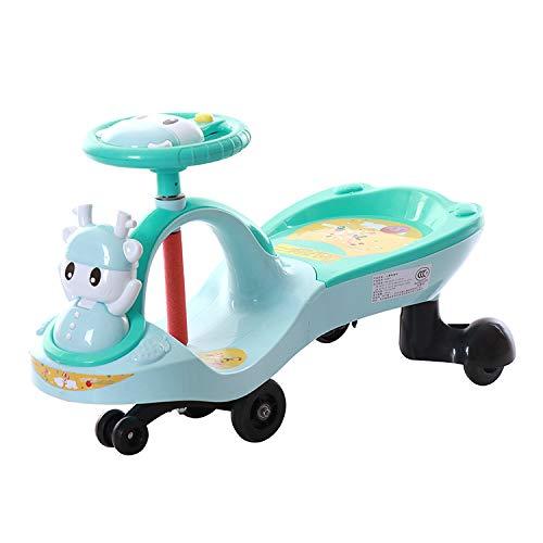 Rabbfay Baby Twist Car Kids Wiggle Car Mit Musiklenkrad, Ride on Wiggle Car Von Ride on Toys Für Jungen Und Mädchen, 2 Jahre Und Älter, Ohne Batterien,Grün