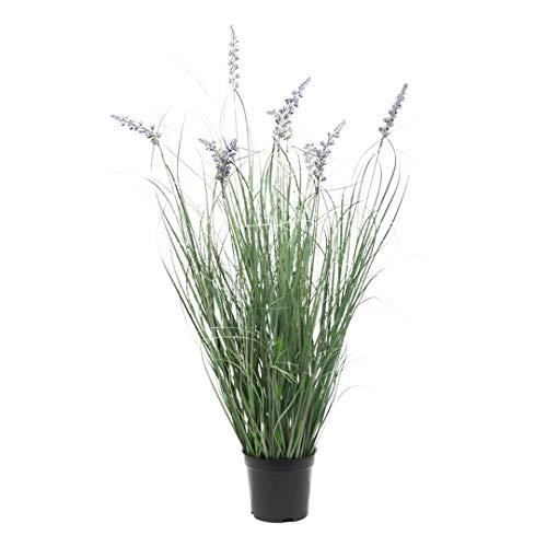 """SN Decor Onion Grass Plant Artificial 28""""Tall 1Pc Lavender Grass Bush in Black Pot - New"""