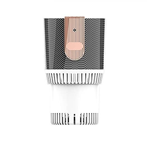 LUKUCEA Coche Refrigeración Taza 12V Temperatura Regulable Posavasos Coche 2 en 1 Mini Calentador Taza con Indicador de Temperatura LED para Hogar Oficina Coche