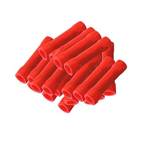 Stossverbinder isoliert rot 100x Stoßverbinder 0,5 - 1,5 mm vollisoliert Crimpzange Quetschverbinder Kabelverbinder Crimp Zange Verbinder Kabelschuhe kfz ARLI