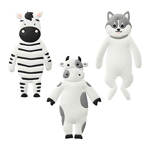 DOITOOL - 3 ganchos adhesivos para pared de animales creativos para el hogar y el hotel, ganchos para frigorífico