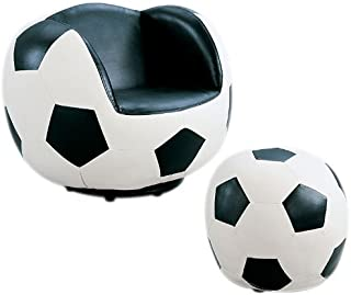 Acme 05525 2-Piece All Star Set Chair and Ottoman, Soccer