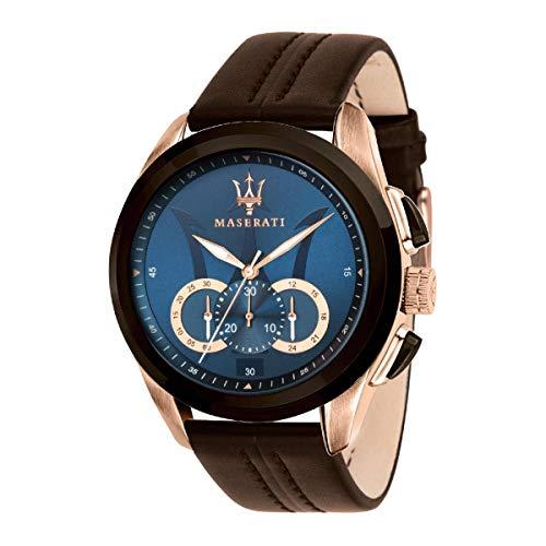 Reloj para Hombre, Colección Traguardo, Movimiento de Cuarzo, cronógrafo, en Acero y Cuero - R8871612024