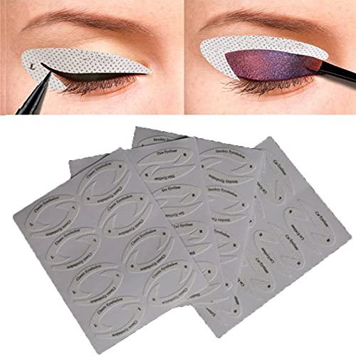 FONGDY Lidschatten Vorlage,Eyeshadow Stencil Stickers,Winged Eyeliner Vorlage,Augenbrauen Lidschatten Make-Up Vorlage