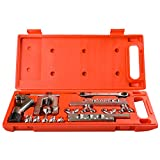 Wostore Flaring Swage Tool Kit for Copper Plastic Aluminum Pipe With Tubing Cutter & Ratchet Wrench