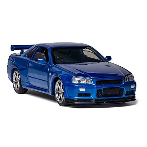 LXLN Modelo de Auto 1:32 para NI-SSAN para G-TR para R-35 Modelo De Aleación De Aleación Modelo De Automóvil Supercar Boy Scale Modelo De Juguete De Coche (Color : 3)