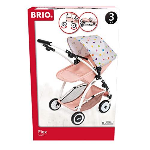 BRIO 24906 Puppenwagen Flex mit Multifunktions-Top - Stylischer Puppenwagen mit vielen Funktionen - Empfohlen ab 3 Jahren