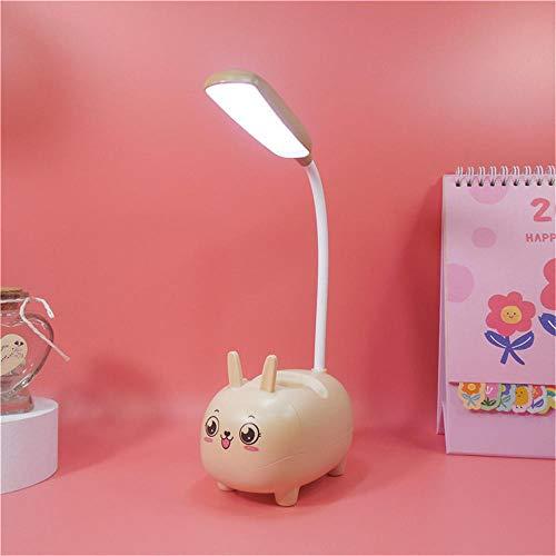Lampara Escritorio Lámpara de Trabajo Lámpara de Lectura Lámpara de escritorio pequeña lámpara de noche USB recargable led Regalos para navidad Luz De Lectura Luz Lectura -amarillo