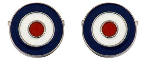 David Van Hagen Bleu/Blanc / Rouge RAF boutons de manchette de