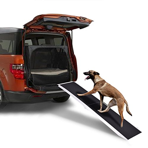 Goplus 8FT Pet Ramp Portable Aluminum Folding Lightweight Dog Ramp covid 19 (20 Ton Wide Truck Ramps coronavirus)