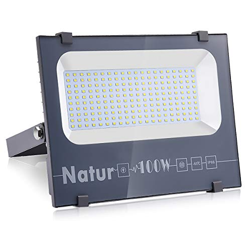 100W Focos LED Exterior, Proyector LED Exterior Impermeable IP66 11000LM Blanco Frío...