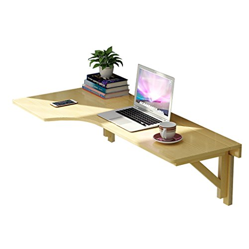 Faltbarer Wandtisch L-förmige Küchenregale Schreibtisch-Massivholz-Eck-Klappwand-Computertisch (größe : R-120 * 60cm)