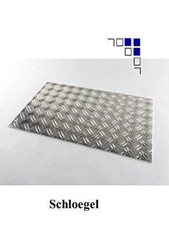 2,5/4 Aluminium-Riffelblech Länge 500/600/750/1000/1500mm Warzenblech (950x1000mm)
